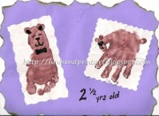 handprint and footprint bear